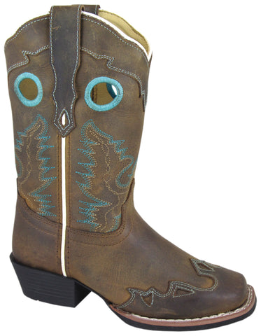 Smoky Mountain Boots Children Boys El Dorado Brown Distress Leather