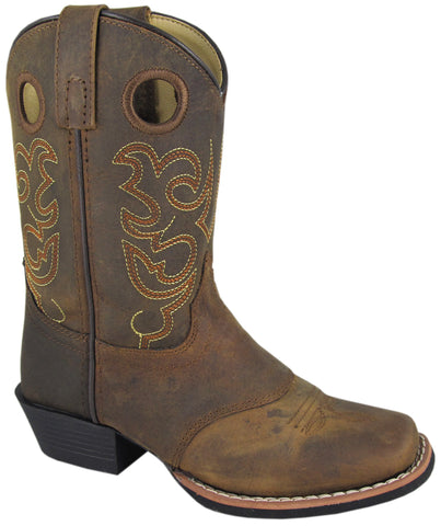 Smoky Mountain Boots Youth Boys Sedona Brown Distress Leather