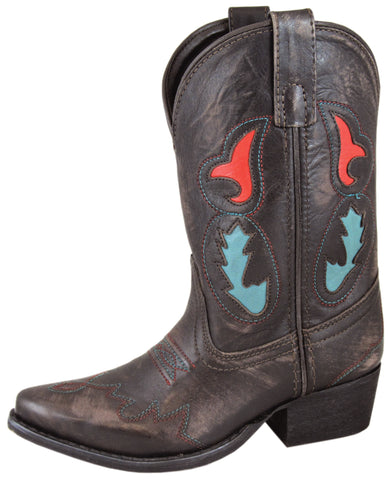 Smoky Mountain Boots Children Boys Madera Dark Brown Leather Snip Toe