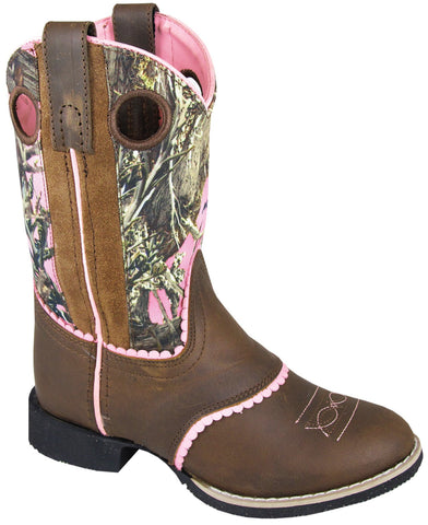 Smoky Mountain Boots Youth Girls Ruby Belle Brown/Camo Leather Cowboy