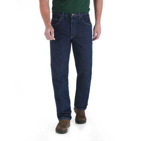 Wrangler Mens Antique Navy 100% Cotton Trail Trekker Jeans