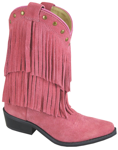 Smoky Mountain Boots Youth Girls Wisteria Pink Leather Fringe