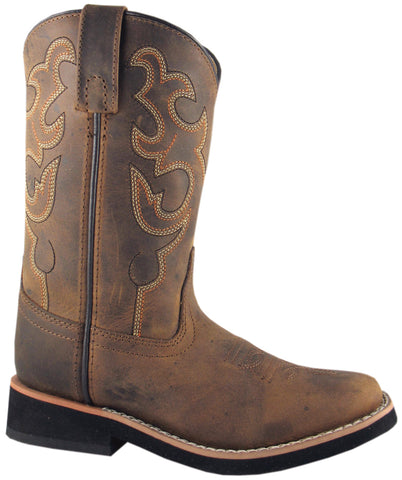 Smoky Mountain Boots Youth Boys Pueblo Dark Crazy Horse Leather 3.5 D