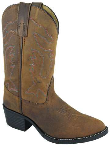 Smoky Mountain Boots Youth Boys Dakota Brown Distress Leather Western