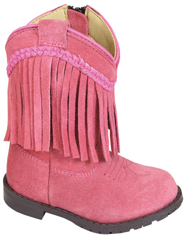 Smoky Mountain Boots Toddler Girls Hopalong Pink Leather Fringe