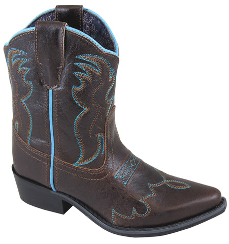 Smoky Mountain Boots Youth Unisex Juniper Dark Brown Leather Stitch