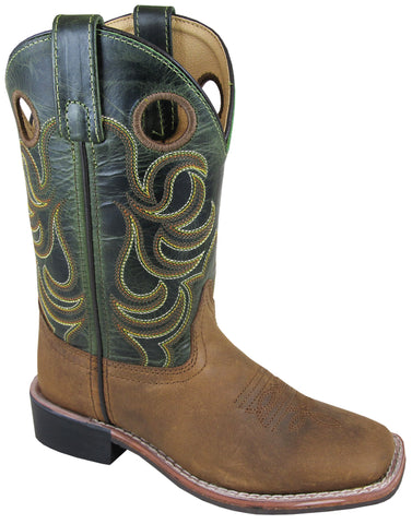 Smoky Mountain Boots Youth Unisex Jesse Green Leather Crackle