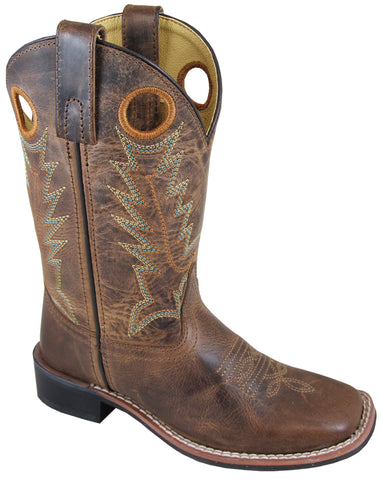 Smoky Mountain Boots Youth Unisex Jesse Brown Leather Crackle