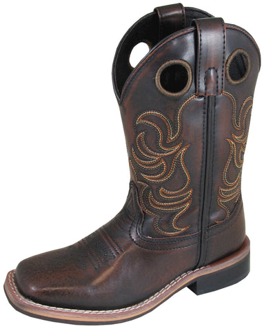 Smoky Mountain Childrens Boys Landry Chocolate Leather Cowboy Boots