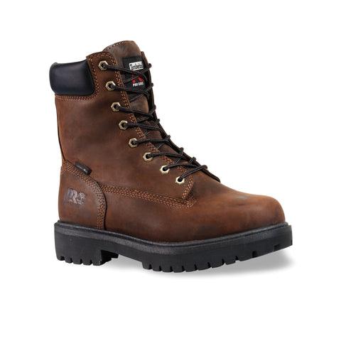 Timberland Pro 8In Ins WP Direct Attach Soft Mens Brown Leather Work Boots