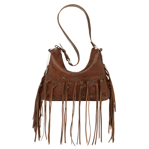 American West River Ranch Crossbody Bag Tobacco Leather