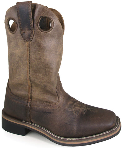 Smoky Mountain Youth Boys Waylon Oiled Brown Leather Cowboy Boots