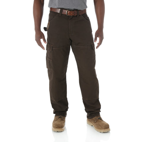 Wrangler Riggs Workwear Mens Dark Brown 100% Cotton Ranger Pant Jeans
