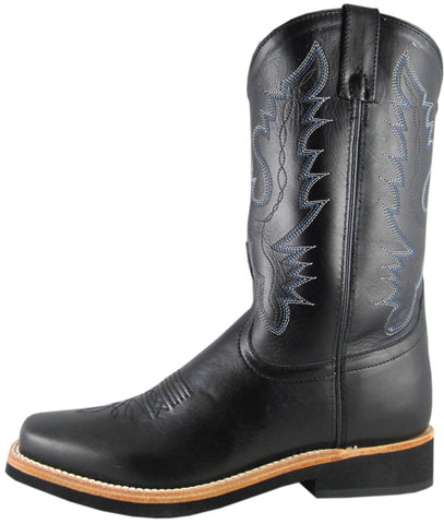 Smoky Mountain Boots Mens Judge Black Leather Square Toe Crepe Sole