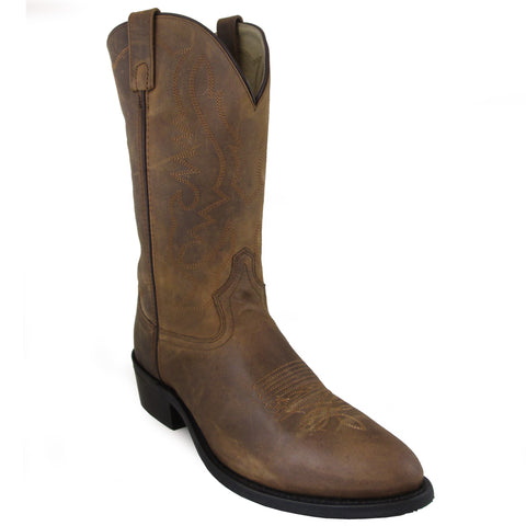 Smoky Mountain Boots Mens Denver Brown Oiled Leather Basic Western