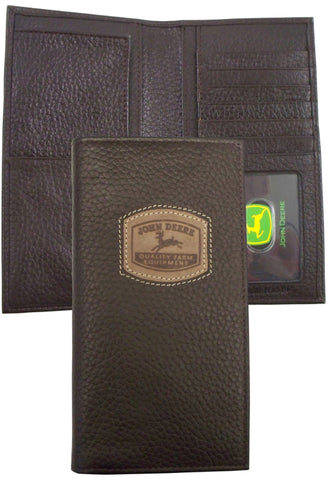 John Deere Mens Brown Pebble Grain Leather Historical Rodeo Wallet