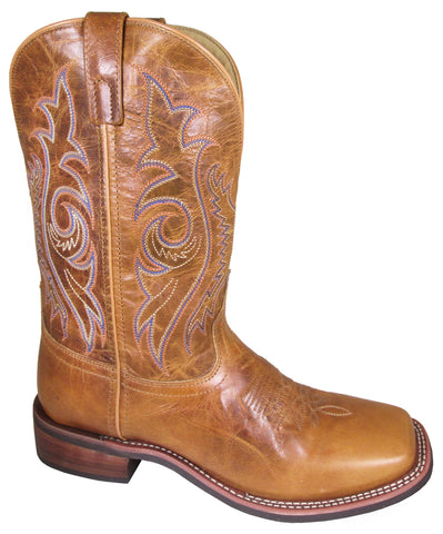 Smoky Mountain Mens Knoxville Vintage Tan Leather Cowboy Boots