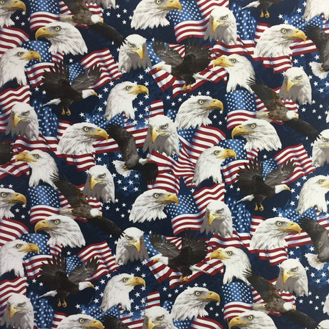 Rockmount Multi-Color 100% Cotton Flags and Eagles 22x22 Bandana