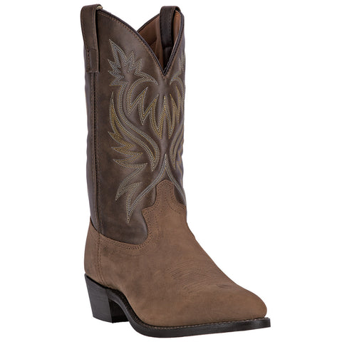 Laredo Mens London Cowboy Boots Leather Tan