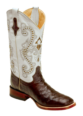 Mens Ferrini Brown Chocolate Anteater Print Leather S Toe Western Boots