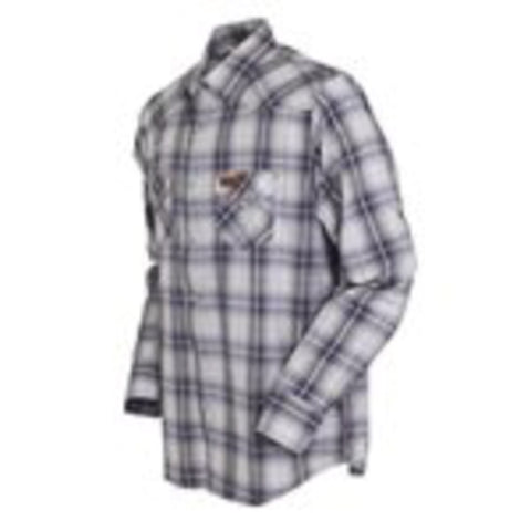 Outback Trading Co Baron Performance L/S Mens Shirt Gray Cotton Blend