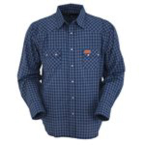 Outback Trading Co Buckley Performance L/S Mens Shirt Royal Cotton