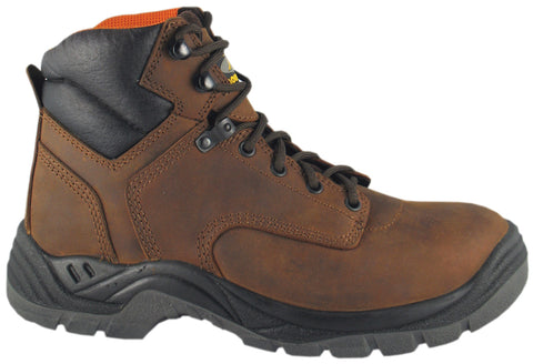 Smoky Mountain Boots Mens Galloway Brown Leather Steel Toe Waterproof