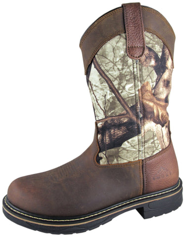 Smoky Mountain Boots Mens Stag Camo Crazy Horse Leather EH Wellington
