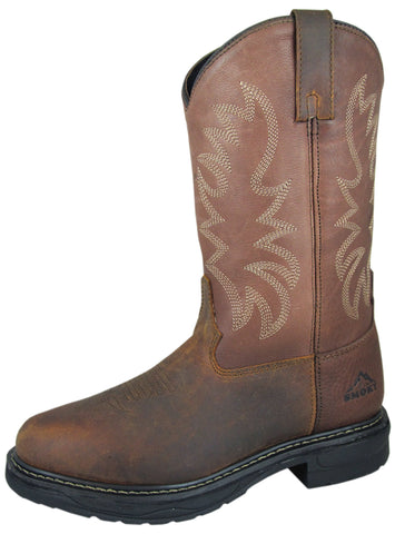Smoky Mountain Boots Mens Buffalo Brown Leather EH Soft Toe Welly Work