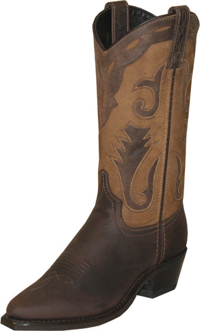 Sage Boots Ladies Brown Cowhide Cowboy Cutout USA