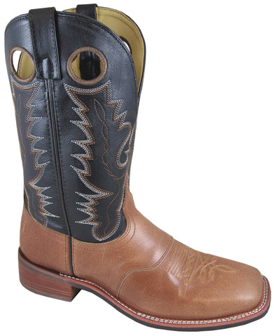 Smoky Mountain Boots Mens Ryan Black/Tan Leather PullOn