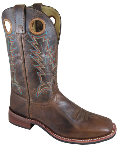 Smoky Mountain Boots Mens Blake Brown Leather PullOn Crackle
