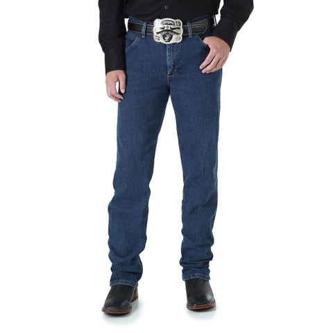 Wrangler Mid Stone Cotton Blend Mens Advanced Comfort Jeans