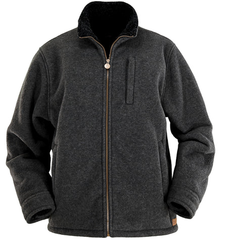 Outback Trading Co. Summit Fleece Jacket Mens Charcoal Polyester Chore Work