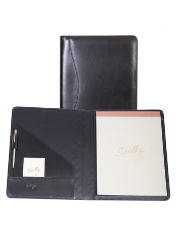 Scully Accessories Black Italian Leather Writing Pad Folder