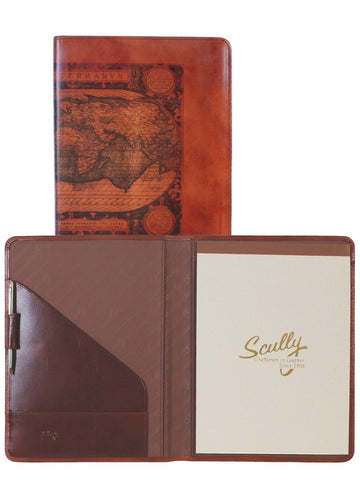 Scully Accessories Cognac Old Atlas/ Pony Leather Writing Pad Folder