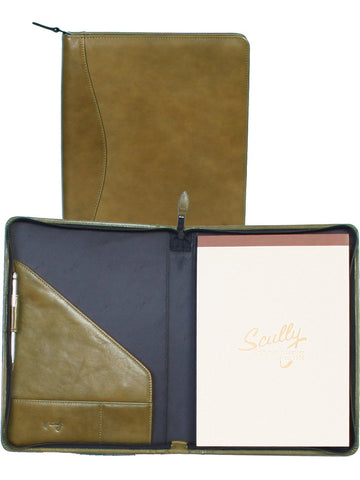 Scully Accessories Aloe Italian Leather Zip Writing Pad