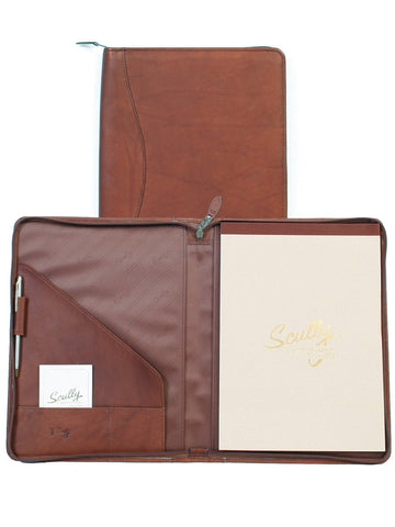 Scully Accessories Brown Canyon Leather Zip Writing Pad