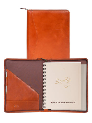 Scully Accessories Sunset Italian Leather Wirebound Writing Pad