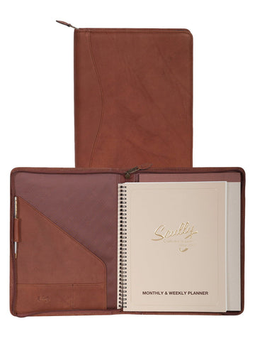 Scully Accessories Brown Canyon Leather Wirebound Writing Pad