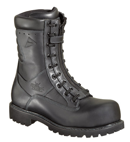 8ef9d6a6b194 Thorogood Womens Wildland Black Leather Steel Toe 9in WP Power EMS Boots