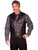 Scully Leather Mens Western Lambskin Lapel Vest Black Soft Touch