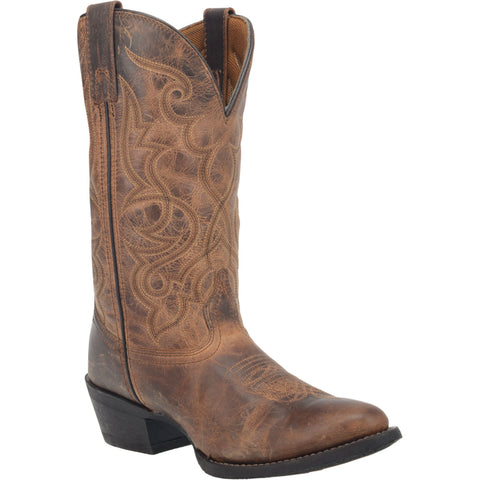 Laredo Womens Tan Maddie Leather Cowboy Boots 11in Embroidered