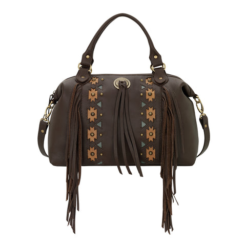 American West Chenoa Convertible Satchel Chocolate Leather