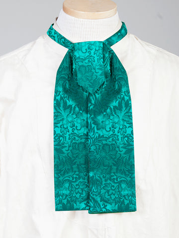 Scully Wahmaker Mens Hunter Green 100% Silk Jacquard Scarf