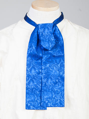 Scully Wahmaker Mens Royal 100% Silk Jacquard Scarf