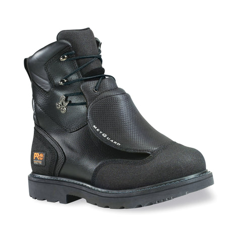 Timberland Pro 8In Met Guard WP Mens Black Leather Work Boots Ever-Guard