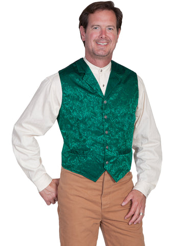 Scully Wahmaker Mens Hunter Green 100% Silk Exquisite USA Twin City Vest