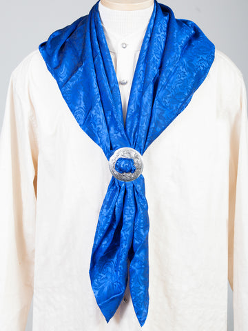 Scully Wahmaker Mens Royal 100% Silk USA Scarf