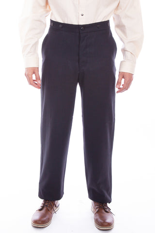 Wahmaker Mens Black Wool Blend USA Trousers
